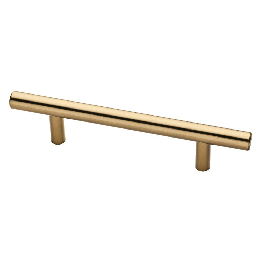 3-3/4 in. (96mm) Champagne Bronze Bar Pull