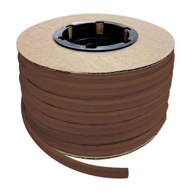 1/2 in. x 1/2 in. x 100 ft. Brown PVC Inside Corner Self-Adhesive Flexible Trim Molding