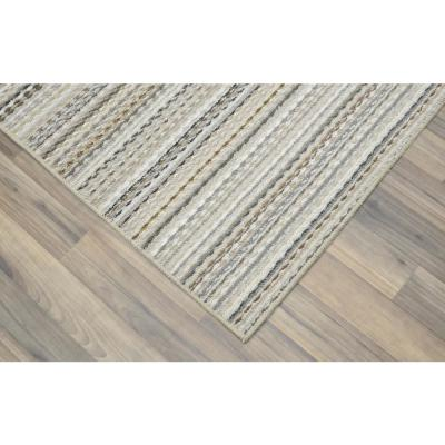 Carnival Stripe Earthtone 4 ft. x 6 ft. Area Rug