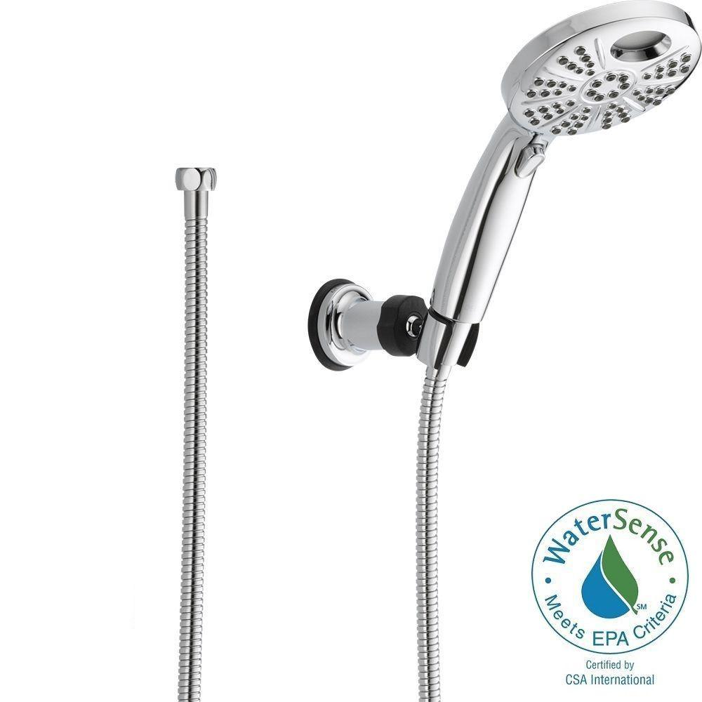 Delta Temp2O 6 Spray Hand Shower With Wall Mount In Chrome
