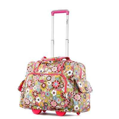 Fashion Tulip Rolling Overnighter with Add-A-Bag Sleeve