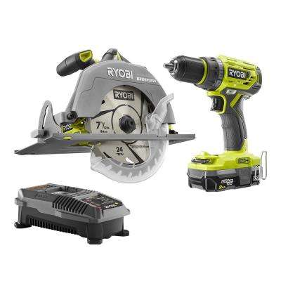 18-Volt ONE+ Lithium-Ion Cordless Brushless Combo Kit (2-Tool)