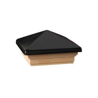 Verona 4 in. x 4 in. Black High Point Post Cap
