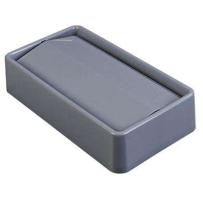 TrimLine 15 Gal. and 23 Gal. Gray Trash Can Swing Lid (4-Pack)