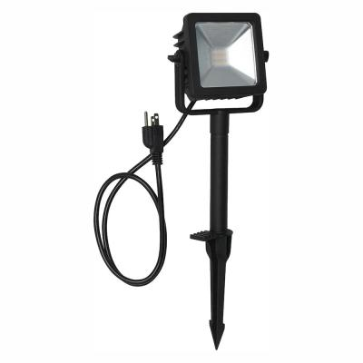 Line Voltage Black Outdoor Integrated LED Landscape Flood Light