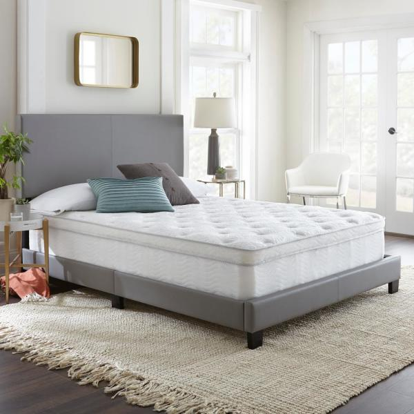 Rest Rite 12 in. Hybrid Innerspring King Medium Plush to Firm Memory Foam Mattress
