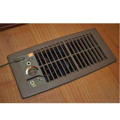 Flush Fit Register Booster Fan in Brown