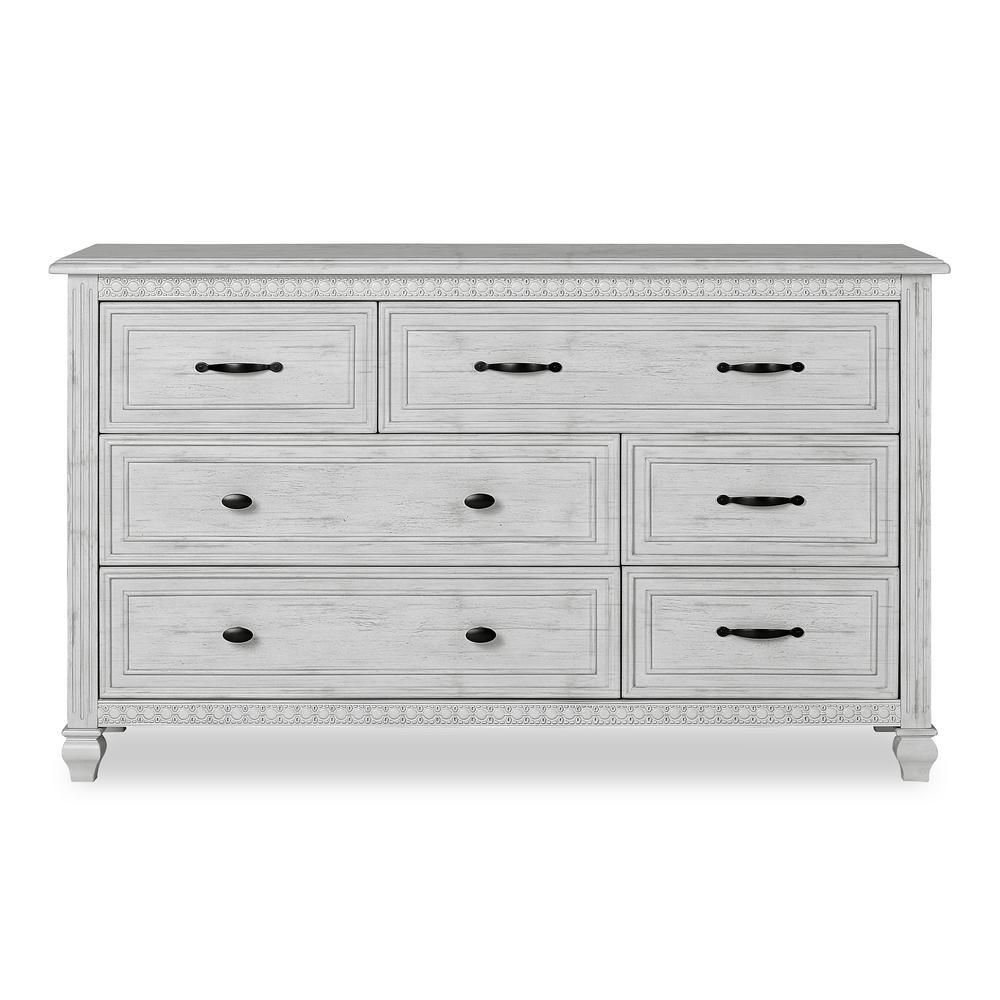 Madison Antique Grey Double Dresser (6-drawer)