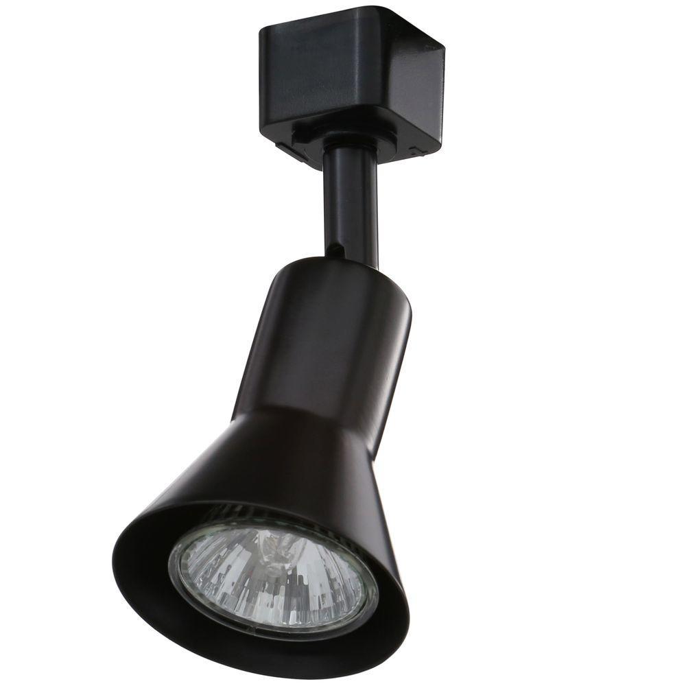 juno flare gu10 black track lighting head r715 bl the home depot