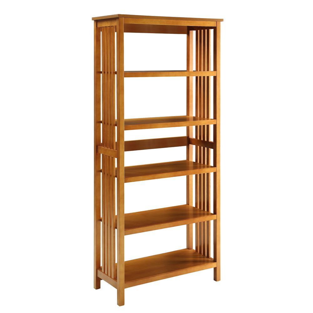 Mission Oak 5-shelf Bookcase
