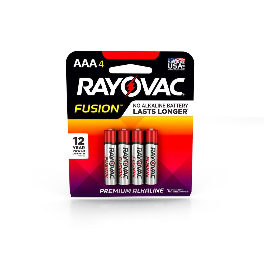 FUSION AAA 1.5-Volt Alkaline Premium Battery (4-Pack)