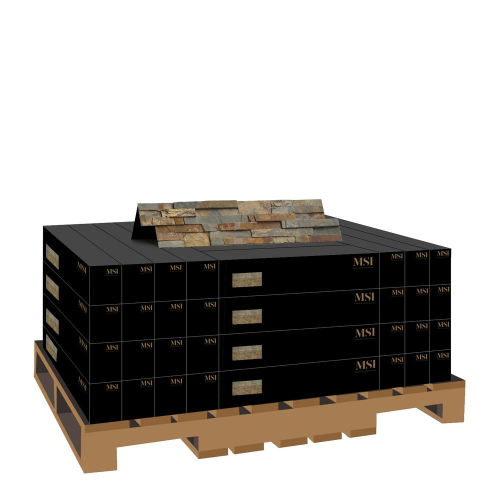 MSI Natural Earth Ledger Panel 6 in. x 24 in. Natural Slate Wall Tile (10 cases / 60 sq. ft. / pallet)
