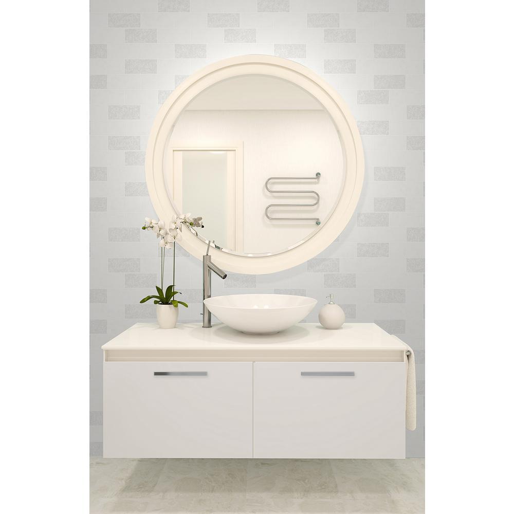 56.4 sq. ft. Ceramica White Subway Tile Wallpaper