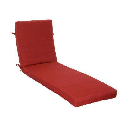 21 x 47 Outdoor Chaise Lounge Cushion in Standard Chili Texture