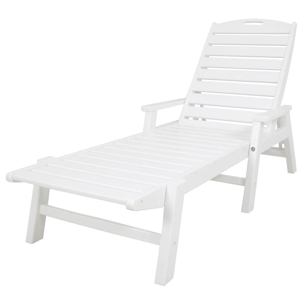 White plastic chairs home depot loft style homes floor plans for Peindre chaise longue plastique