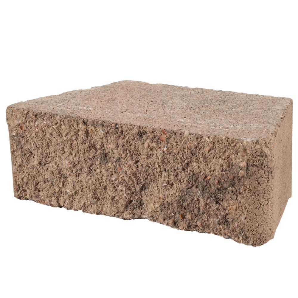 Pavestone Rockwall Small 4 In X 11 63 6 75 Pecan Concrete