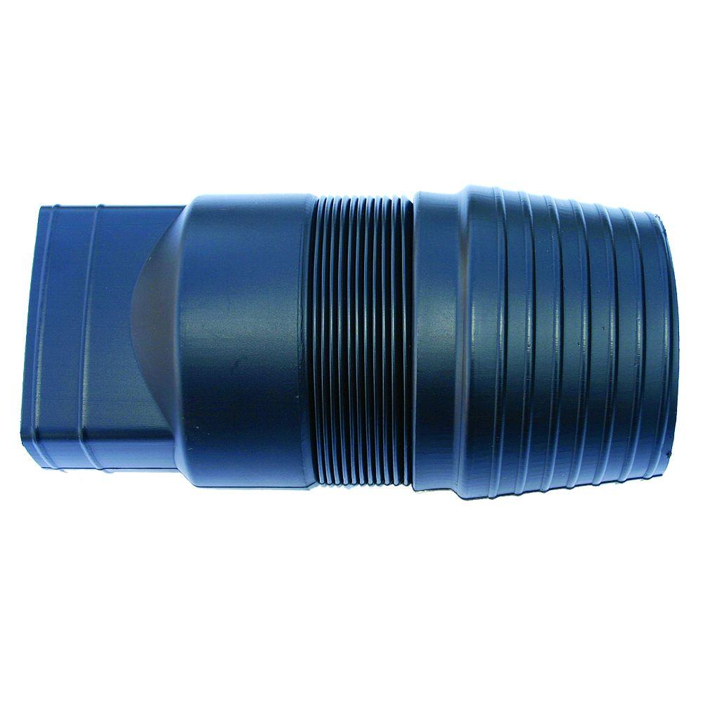 Advanced Drainage Systems 2 in  x 3 in  Polyethylene Expandable Downspout  Adaptor