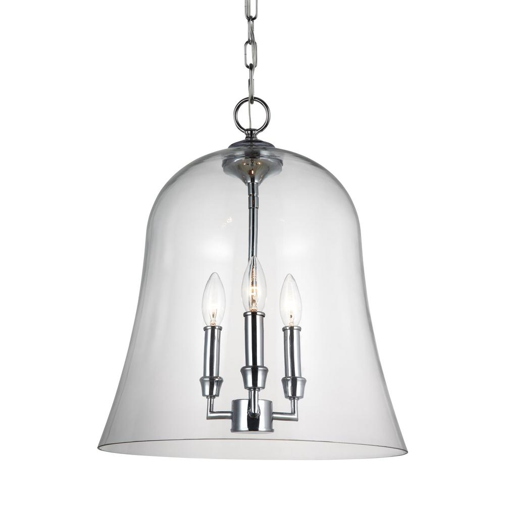 Lawler 3-Light Chrome Pendant