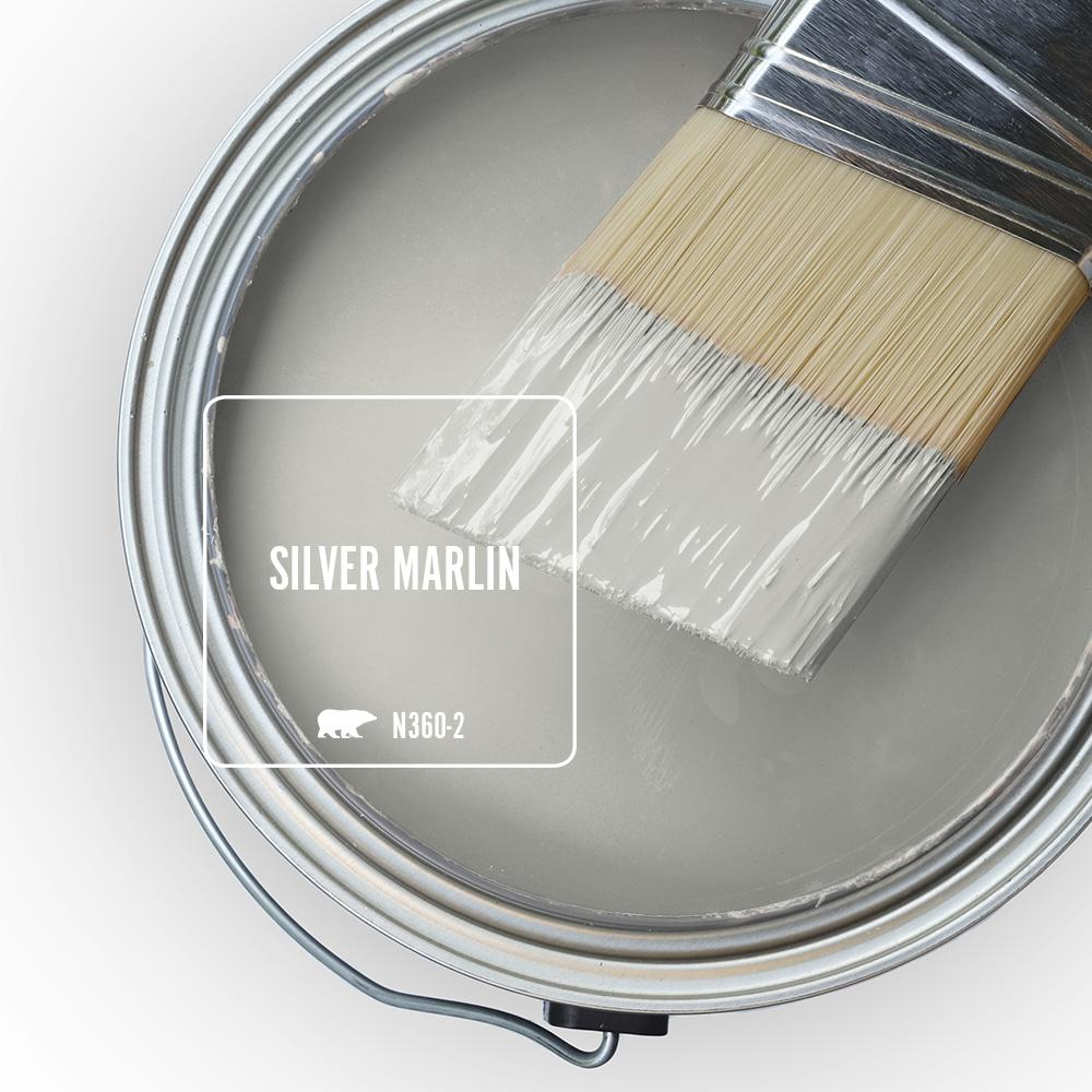 BEHR Silver Marlin paint color - a gorgeous French Grey to consider. #paintcolors #frenchgray #silvermarlin #behrsilvermarlin