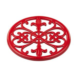 Click here to buy HOME basics Cast Iron Red Trivet by HOME basics.
