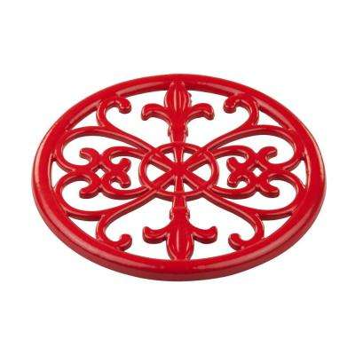 Cast Iron Red Trivet