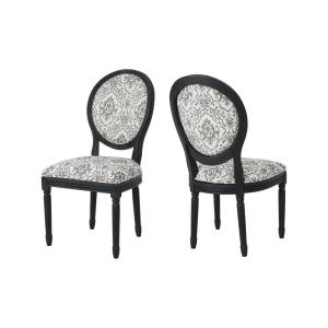 Noble House Hiro Traditional Black and Off-White Ornate ...