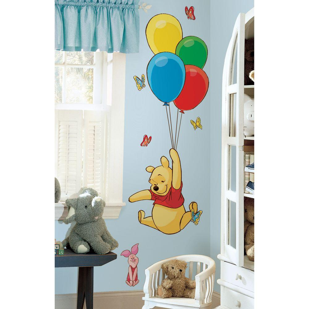18 In X 40 In Winnie The Pooh Pooh And Piglet 16 Piece Peel And