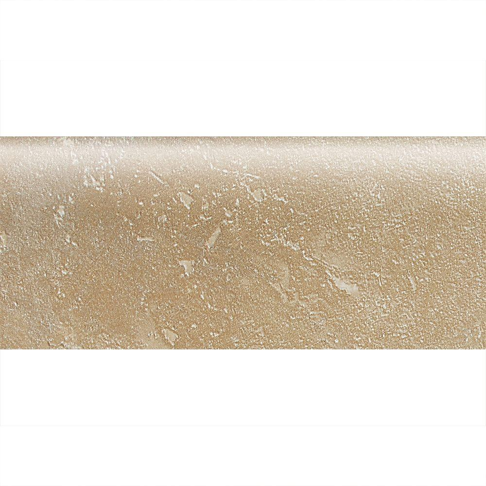 Daltile Sandalo Acacia Beige 2 in. x 6 in. Ceramic Bullnose Wall Tile (0.08 sq. ft. / piece)