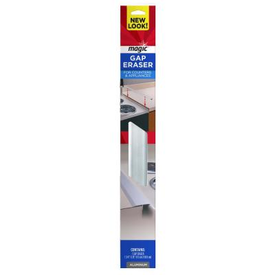 1-1/4 in. x 20 in. Counter and Appliance Gap Eraser in Aluminum