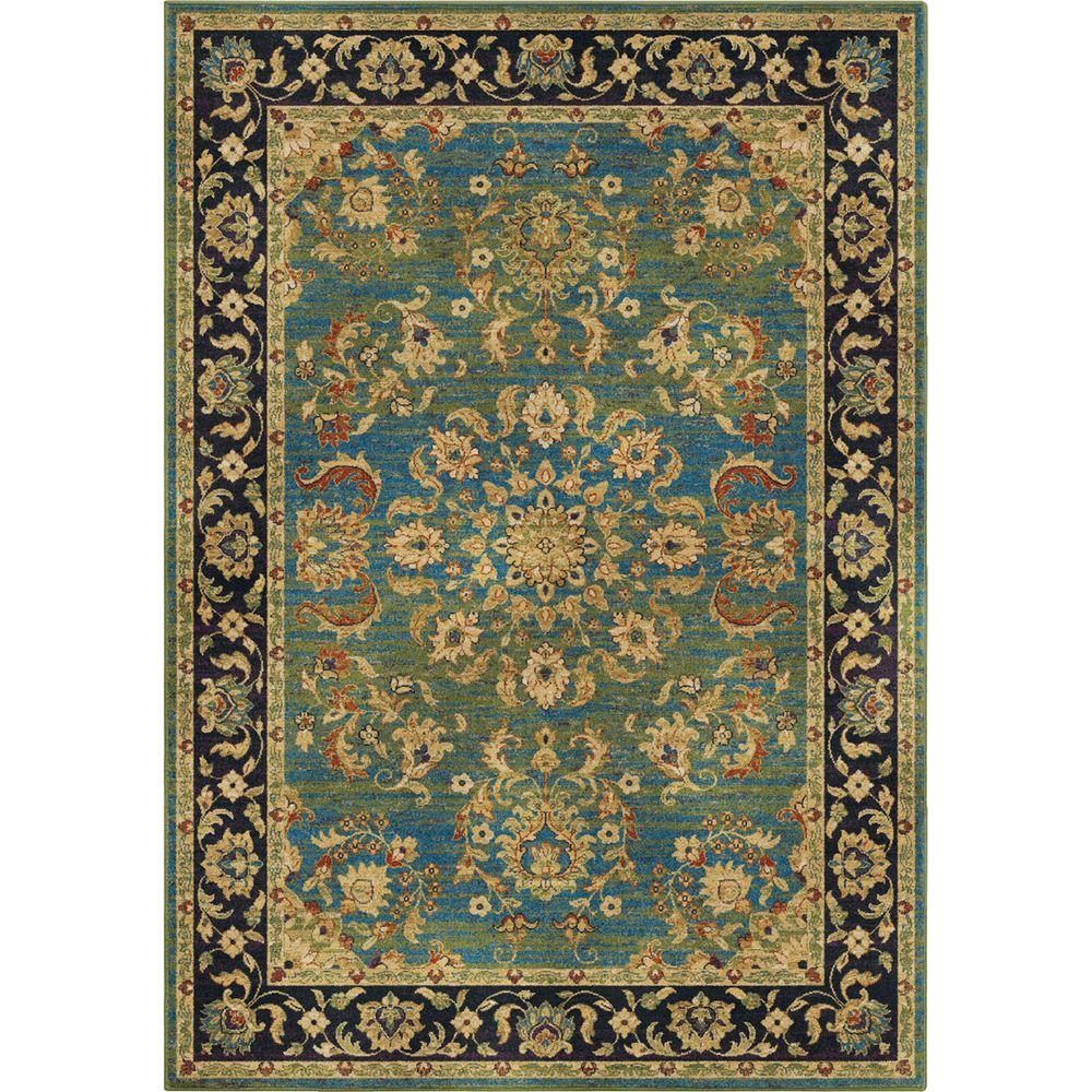 Twisted Tradition Aqua 5 ft. 3 in. x 7 ft. 6