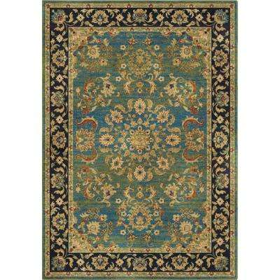 Twisted Tradition Aqua 5 ft. x 8 ft. Indoor Area Rug