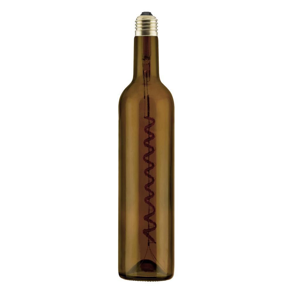 Segula 12-Watt Equivalent Wine Bottle Dimmable E26 LED Light Bulb Warm White