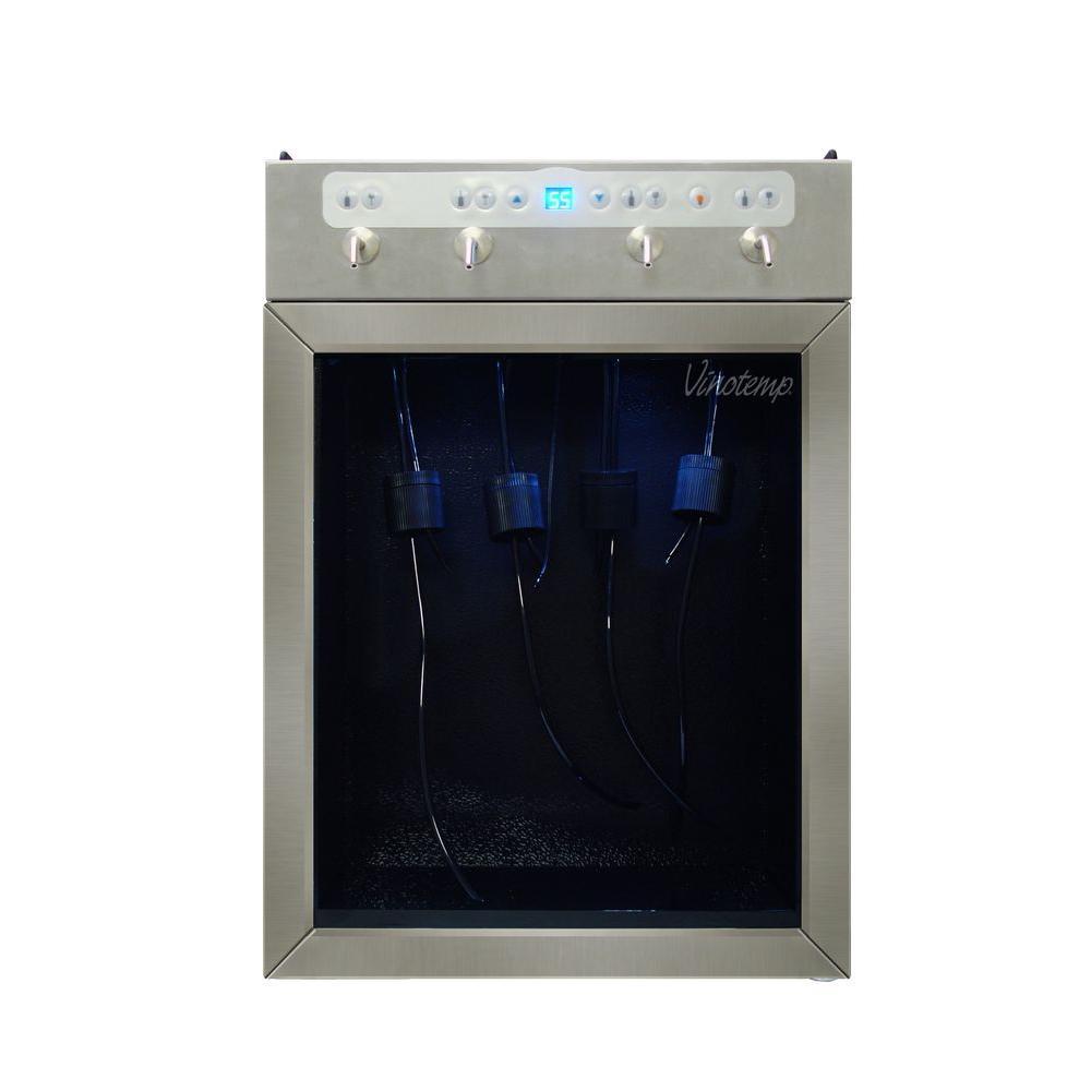 Vinotemp 4-Bottle Wine Dispenser in Stainless