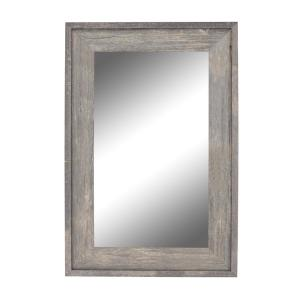 Large Rectangle Gray Casual Mirror (54.5 in. H x 42.5 in. W)