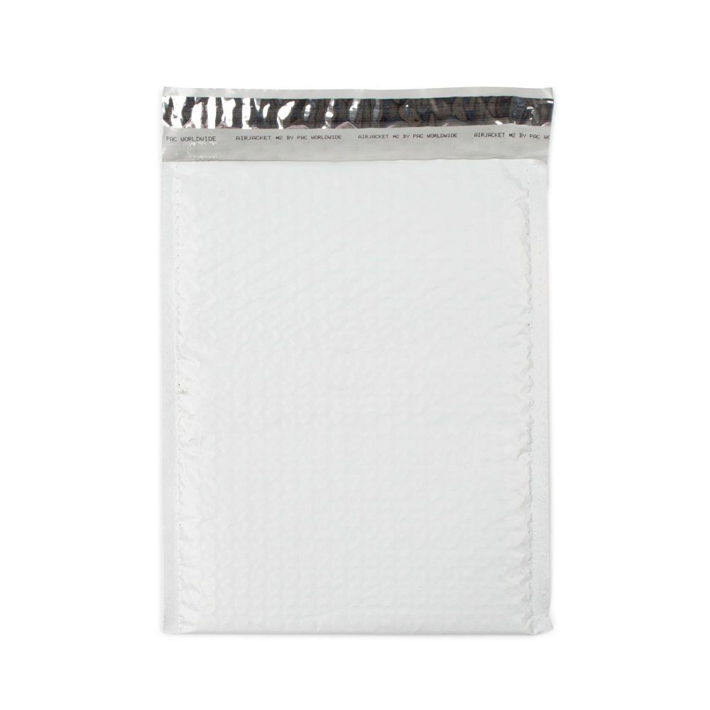 Pratt Retail Specialties 8.5 in. x 11.25 in. White Poly Bubble Mailers with Adhesive Easy Close Strip 100/Case