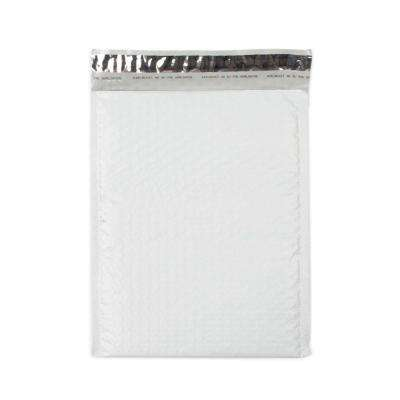 8.5 in. x 11.25 in. White Poly Bubble Mailers Envelope with Adhesive Easy Close Strip (100-Case)