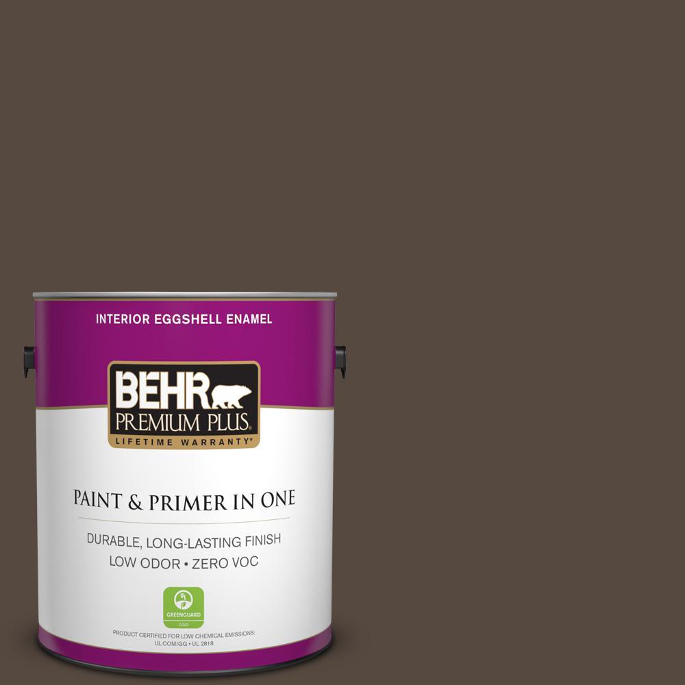 1 gal. #PPU5-19 Dark Truffle Zero VOC Eggshell Enamel Interior Paint