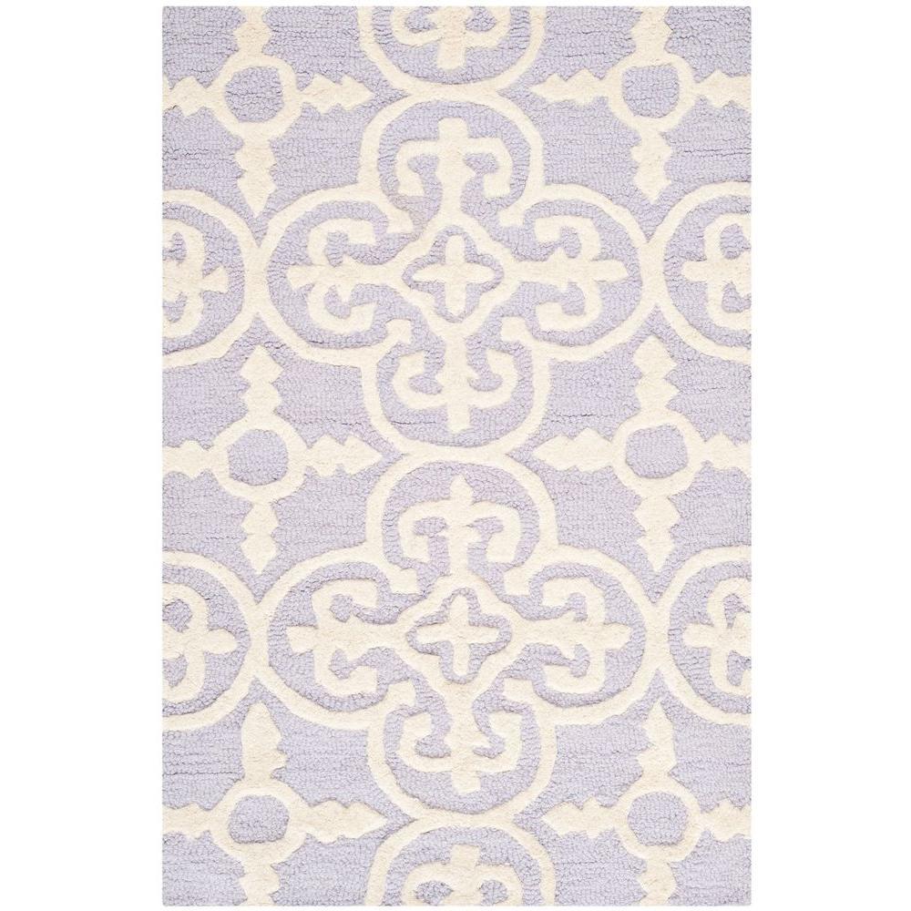 Lavender Rug: Safavieh Cambridge Lavender/Ivory 3 Ft. X 4 Ft. Area Rug