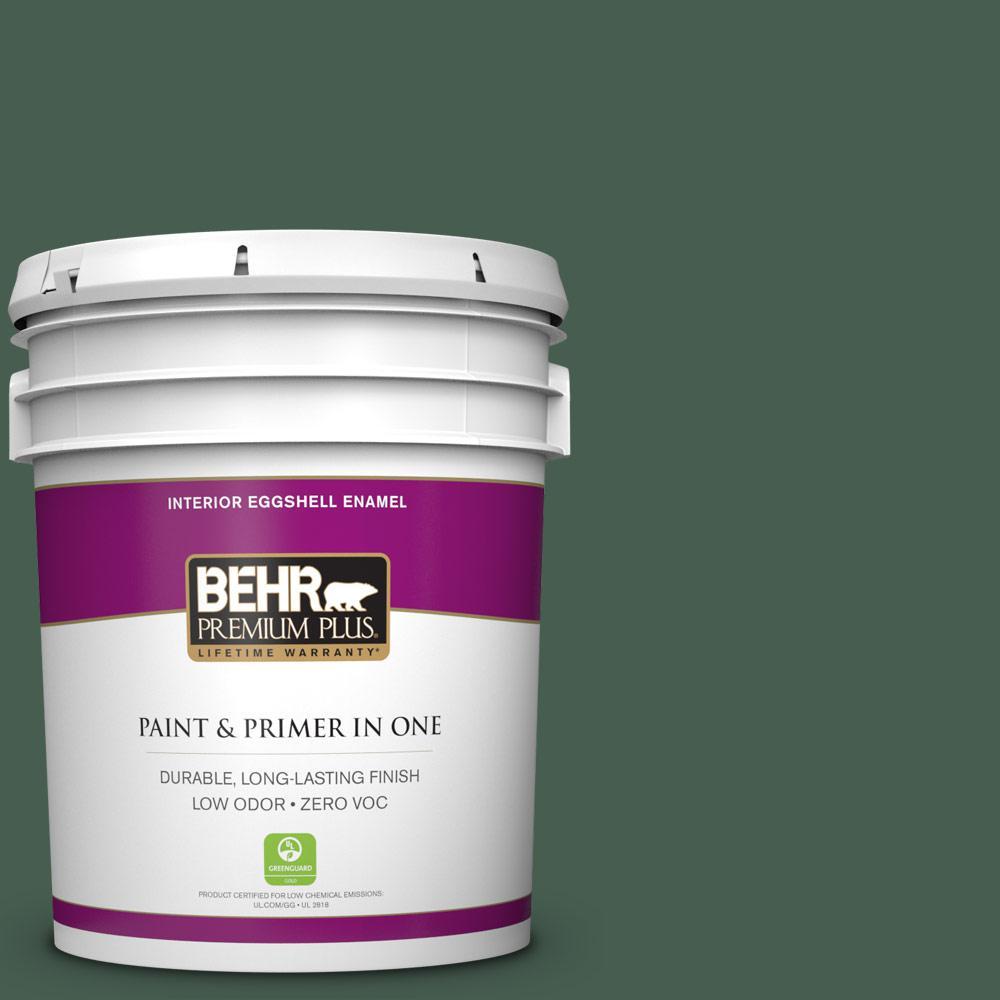 5 gal. #N400-7 Vine Leaf Zero VOC Eggshell Enamel Interior Paint