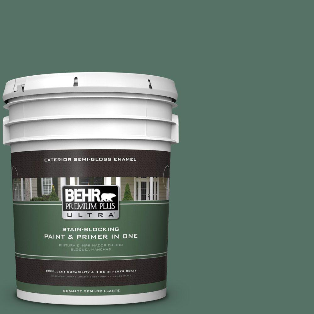 BEHR Premium Plus Ultra 5-gal. #470F-6 Hilltop Semi-Gloss Enamel Exterior Paint