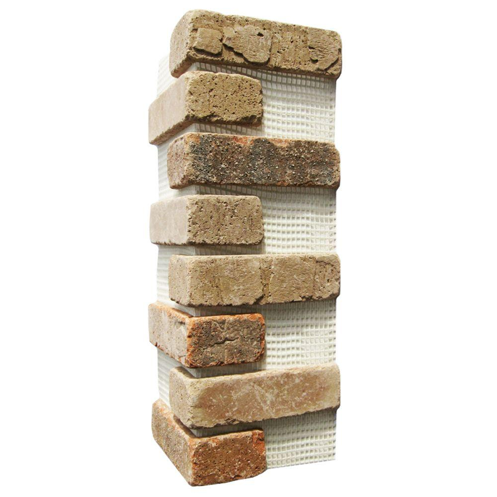 Old Mill Brick Promontory Brickweb 15 in. x 15 in. x 0.5 in. Thin Brick Corners