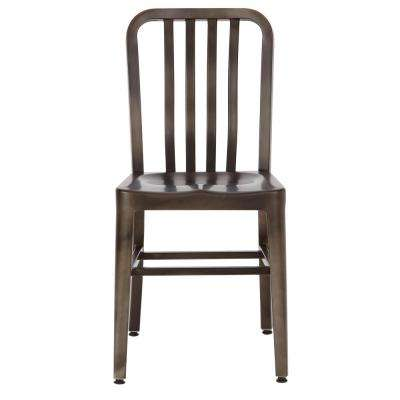 Sandra Gun Metal Side Chairs (Set of 2)