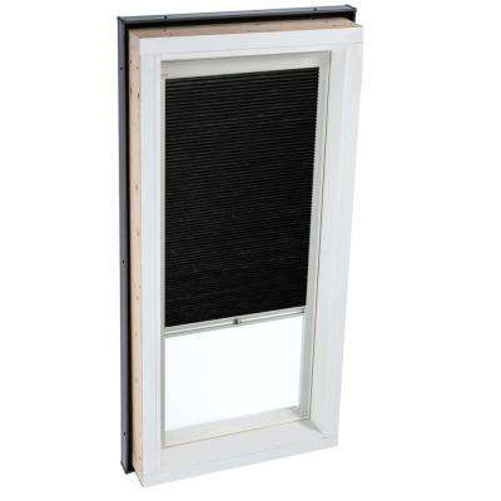 Manual Room Darkening Charcoal Skylight Blinds for FCM 3434 Models
