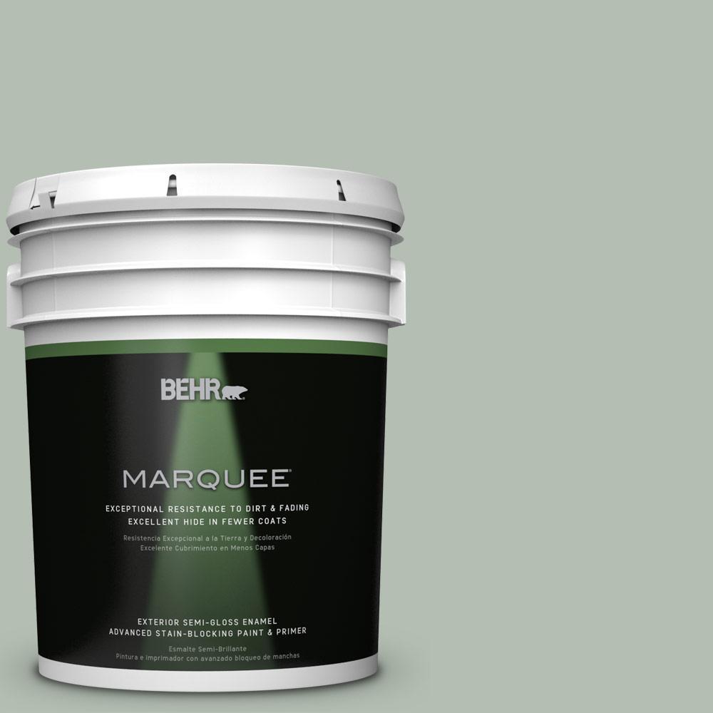 BEHR MARQUEE 5-gal. #N400-3 Flagstaff Green Semi-Gloss Enamel Exterior Paint