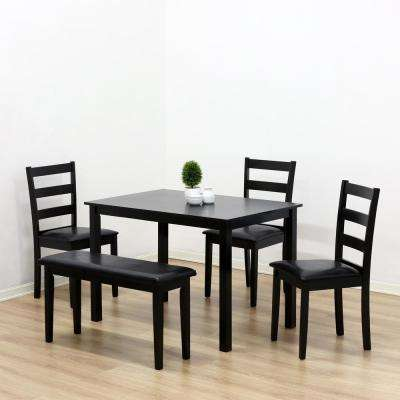 Cos Simply Espresso Wood Dining Chair Set of 2