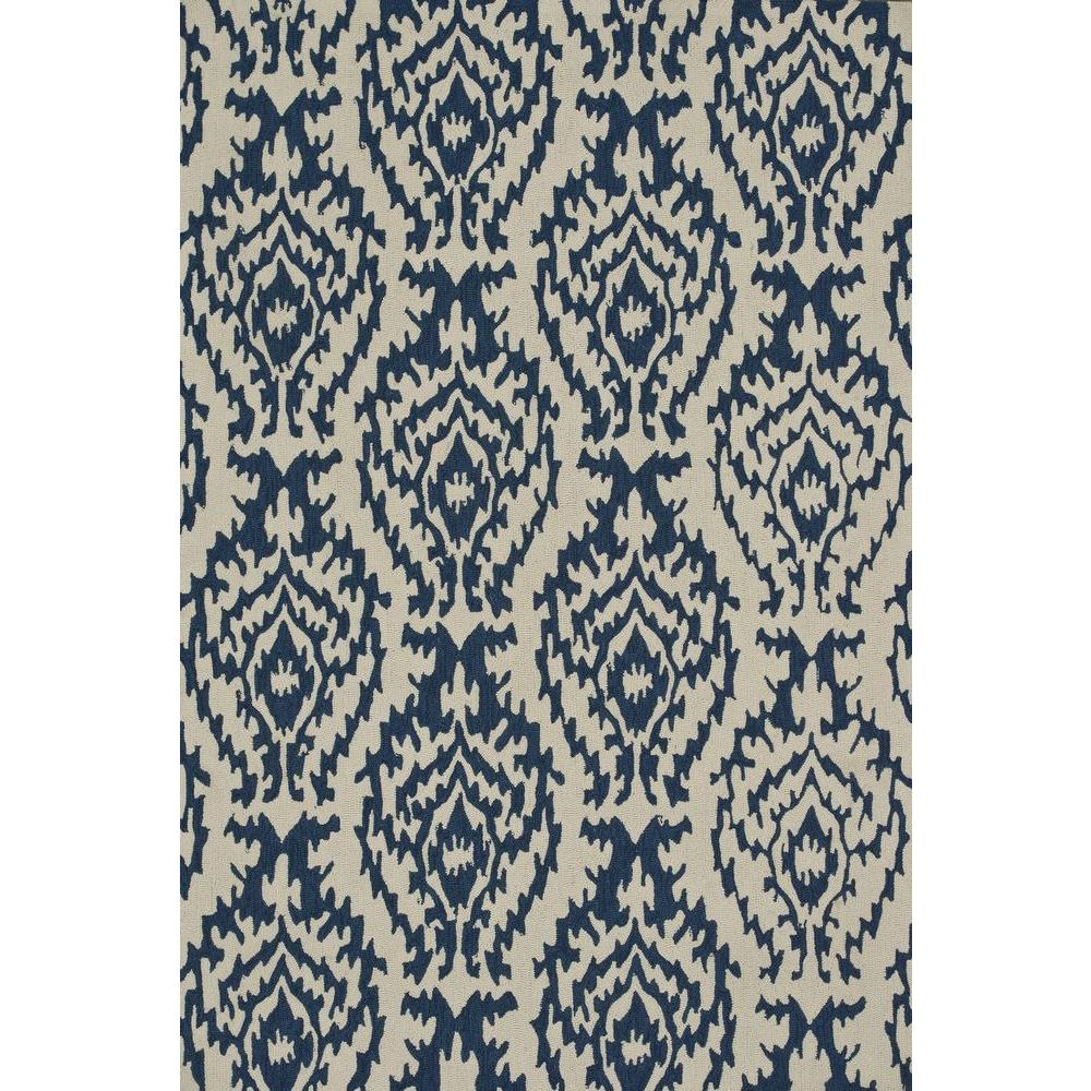 Loloi Rugs Summerton Lifestyle Collection Ivory/Denim 5 ft. x 7 ft. 6 in. Area Rug