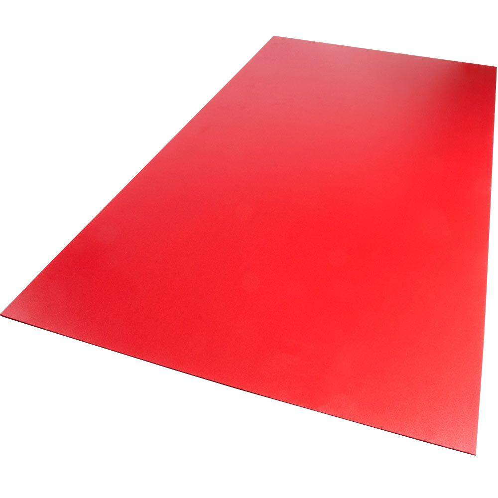 12 in. x 12 in. x 0.118 in. Foam PVC Red