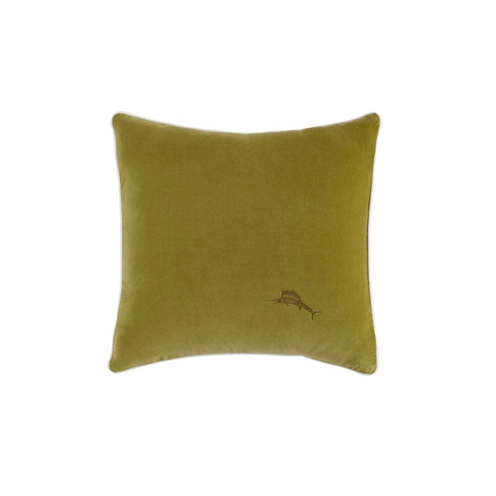 Canyon Palms Green Cotton 18 in. x 18 in. Decorative Pillow