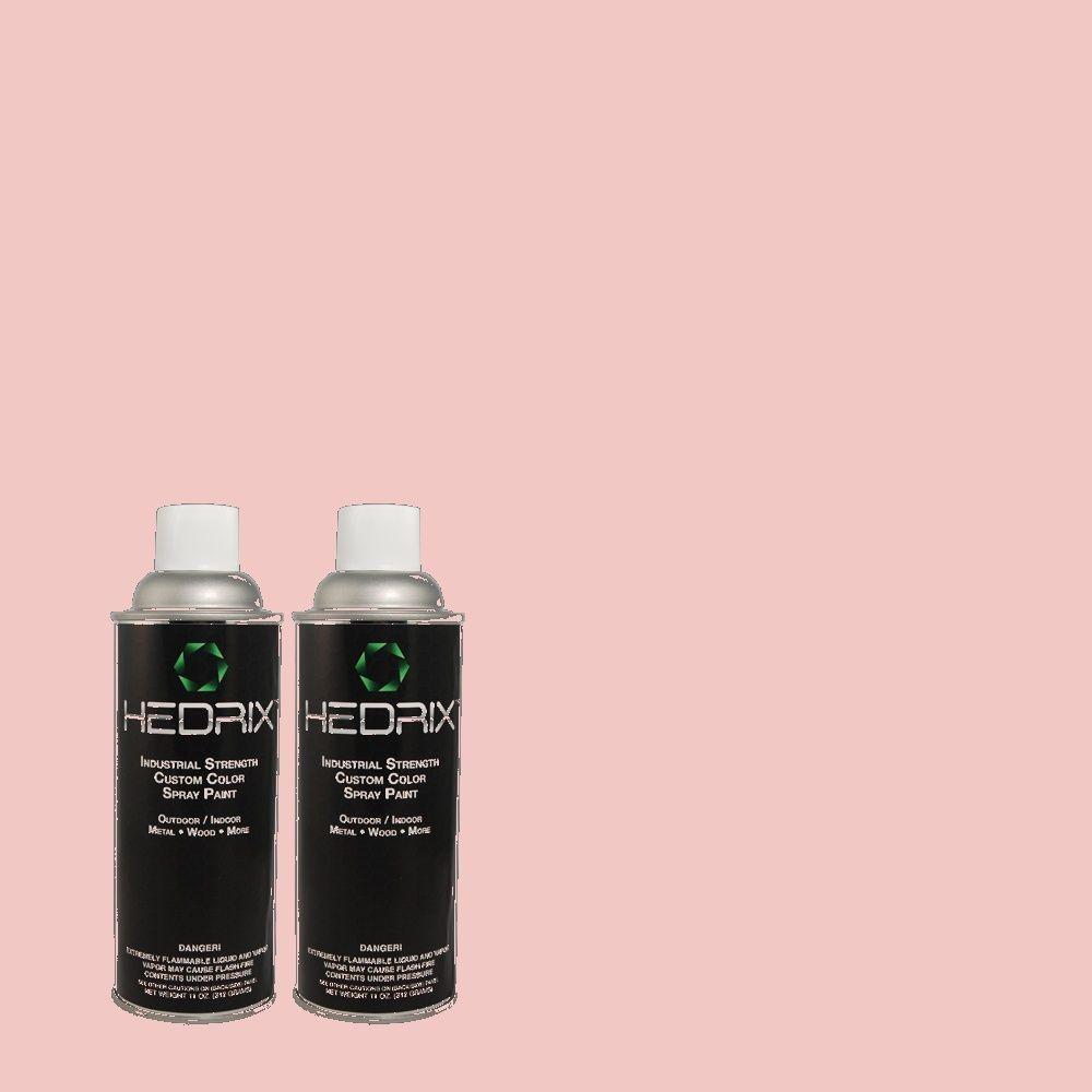 Hedrix 11 oz. Match of 2B29-2 Ruby Blush Flat Custom Spray Paint (2-Pack)
