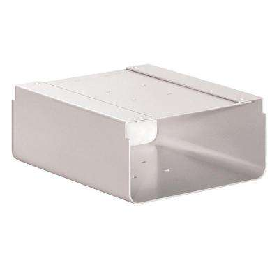 Newspaper Holder for Roadside Mailbox and Mail Chest, White